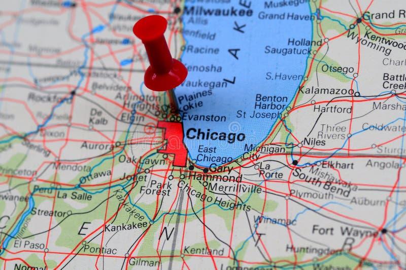 Chicago centrale financière image libre de droits