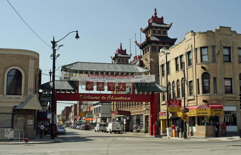chicago chinatown стоковое изображение rf