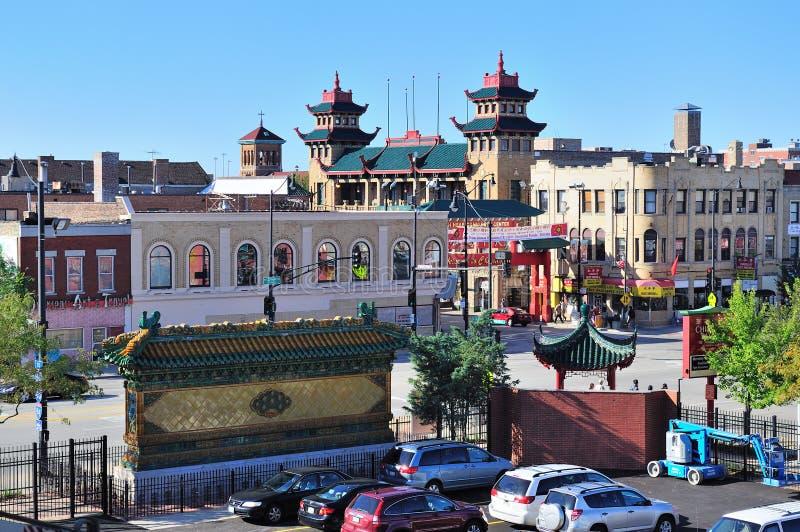 Chicago Chinatown immagine stock