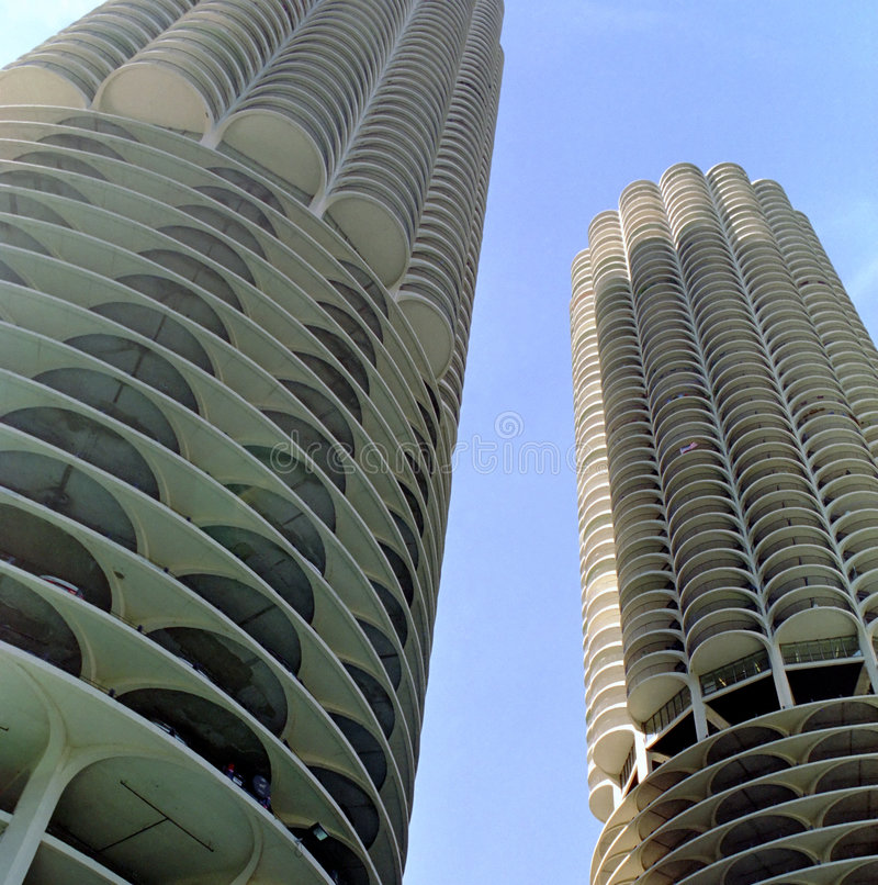 chicago city marina obrazy stock