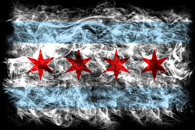 Chicago city smoke flag, Illinois State, United States Of America royalty free stock image