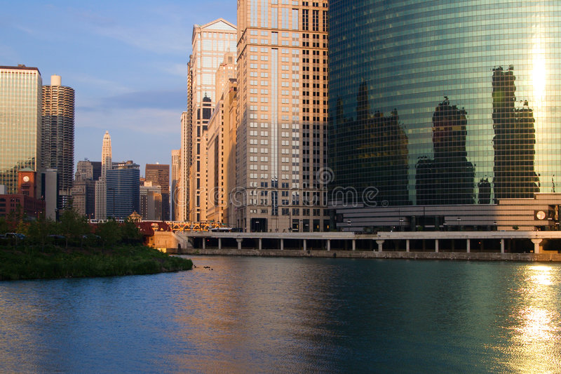 Chicago City View stock images