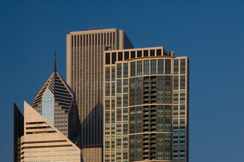 Chicago city view - including AON Tower royalty free stock photography