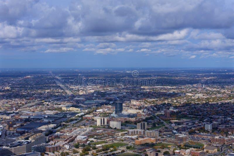 Chicago Cityscape West View 804760 immagine stock libera da diritti