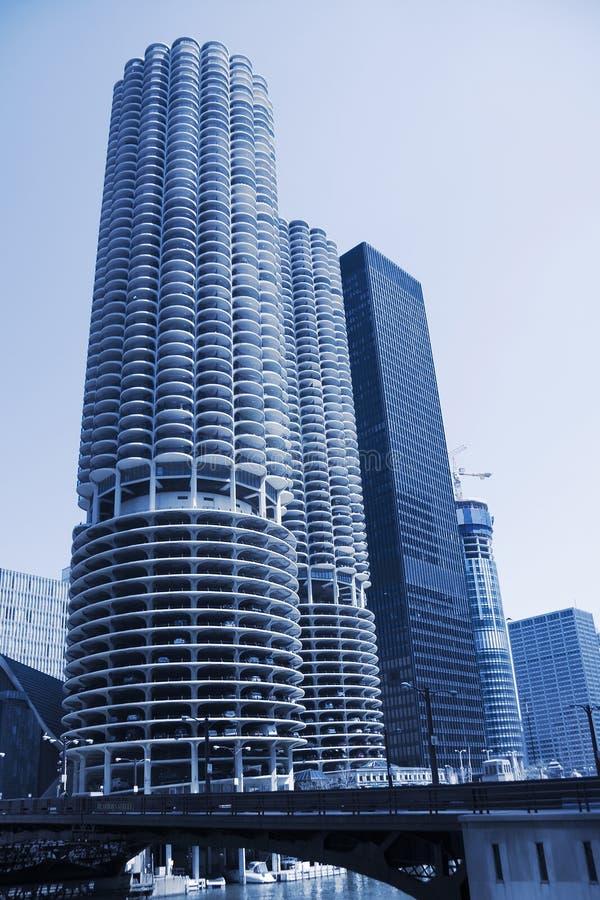 Chicago condominiums stock photo