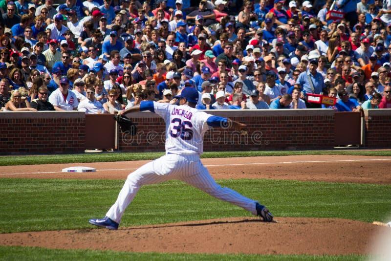 Chicago Cubs - Edwin Jackson imagen de archivo libre de regalías