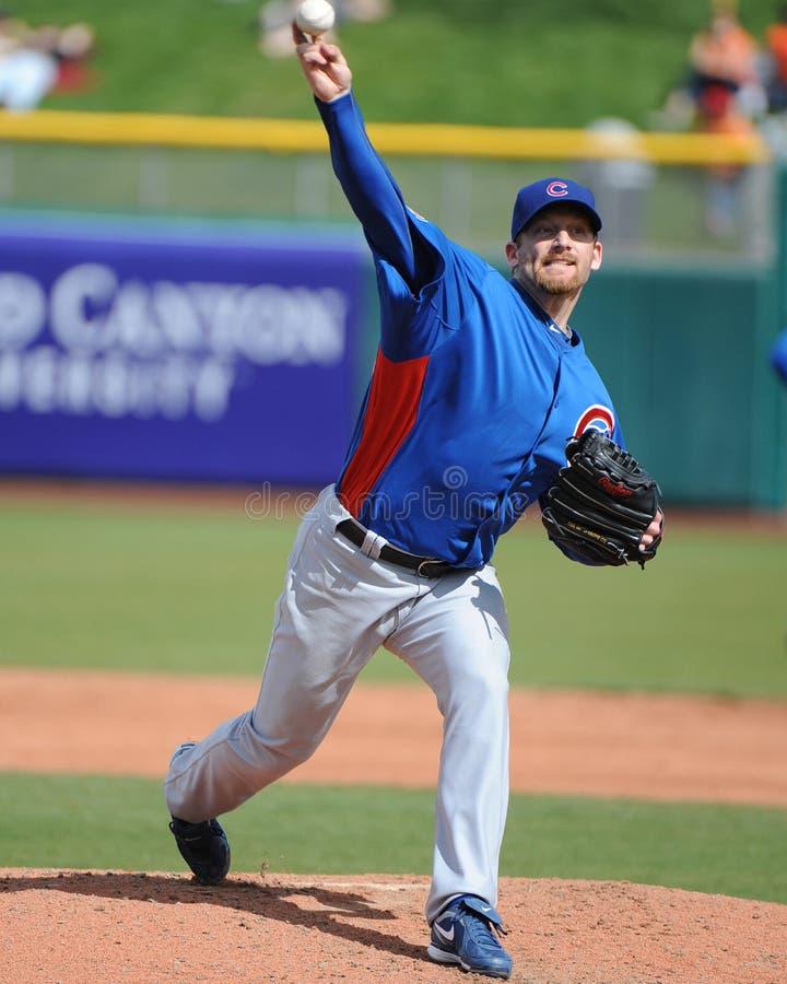 Chicago Cubs Ryan Dempster gör hans första start av Cacen 2011 royaltyfria foton