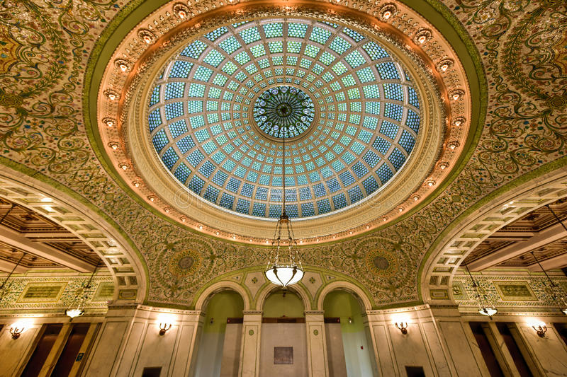 Chicago Cultural Center Stock Photo Image Of Chandelier 62714816