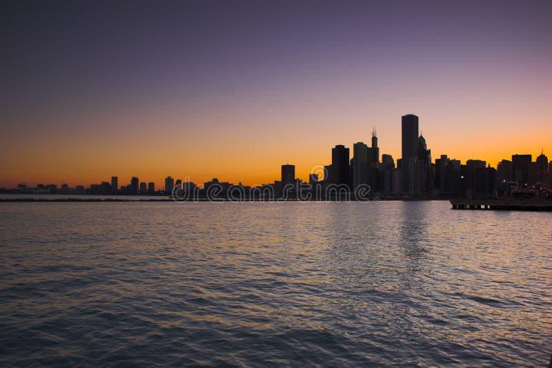 Chicago da acqua fotografia stock