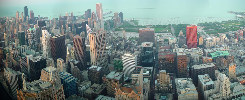 Chicago da baixa de Sears Tower foto de stock