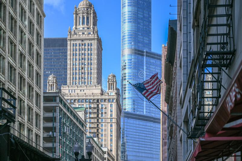 Chicago da baixa foto de stock royalty free