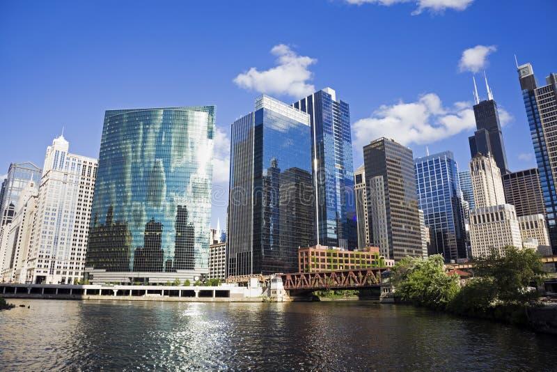 chicago dagsommar arkivbilder