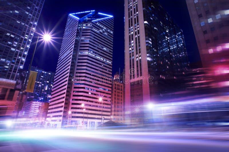 Chicago dans le mouvement images stock