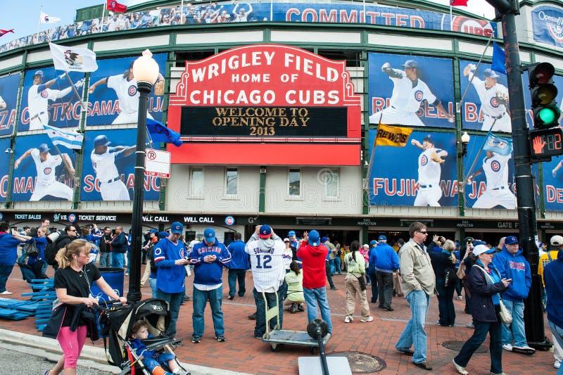 Abrelatas del hogar de los Chicago Cubs 2013 fotografía de archivo libre de regalías