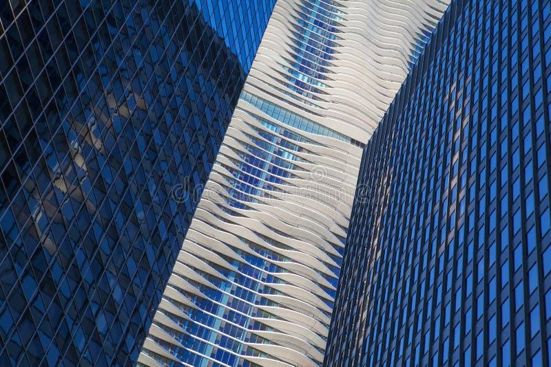 CHICAGO - 7 DE JUNIO: Aqua Tower el 7 de junio de 2013 en Chicago. The fotos de archivo