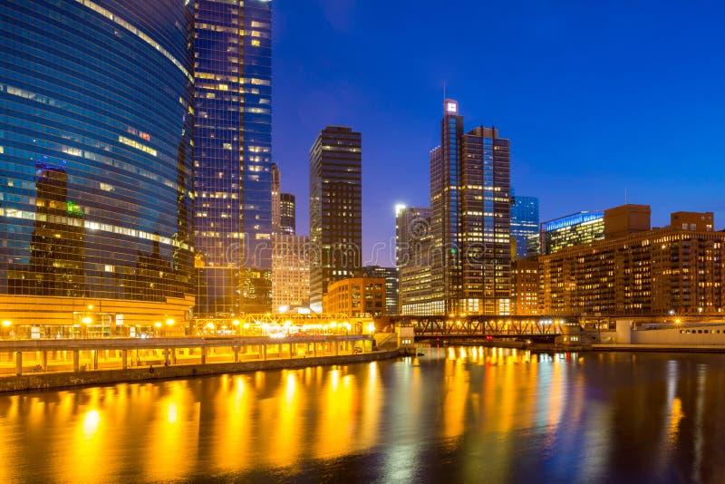 Chicago de stad in stock fotografie