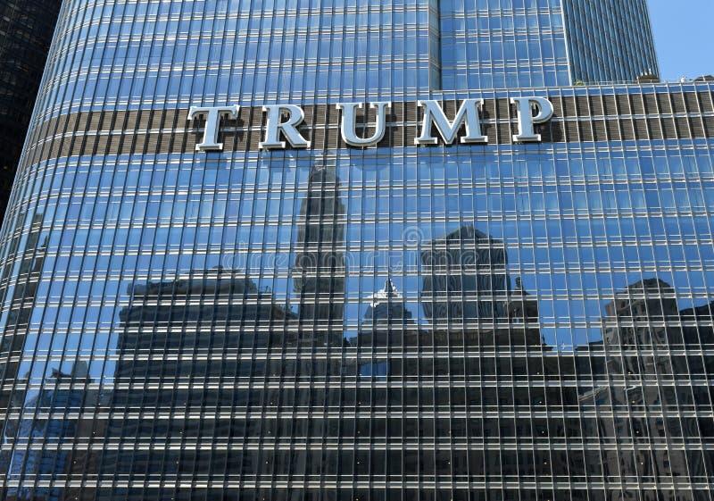 Chicago, de V.S. - 04 Juni, 2018: Troef Internationale Hotel & Toren royalty-vrije stock fotografie
