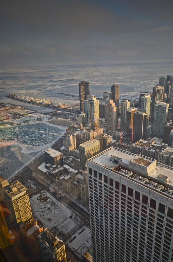 Chicago desde arriba foto de archivo libre de regalías