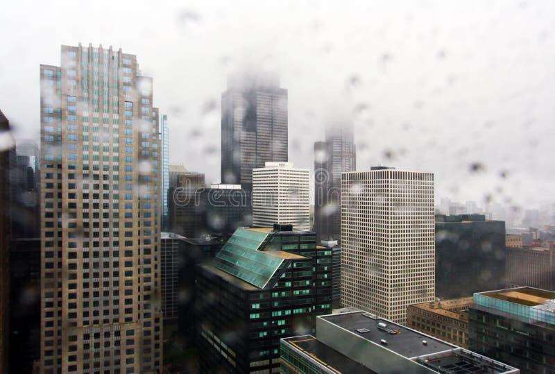 chicago deszcz obrazy royalty free