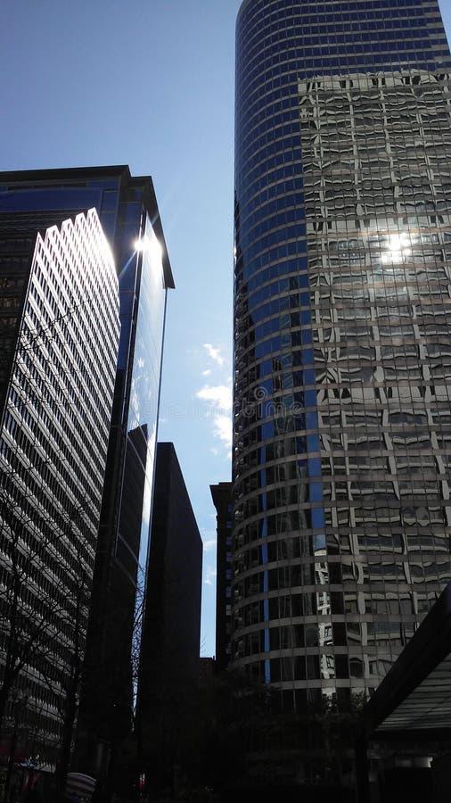 Chicago domine rue de lasalle images libres de droits