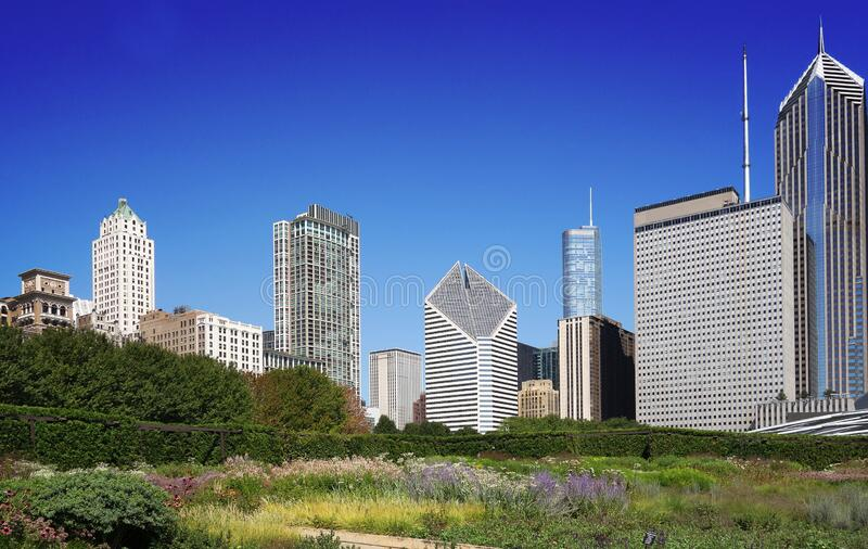 Chicago downtown park royalty free stock images