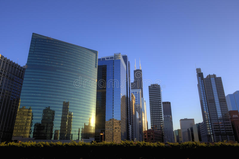 Download Chicago Downtown At Sunset Stock Photography - Image: 17994872