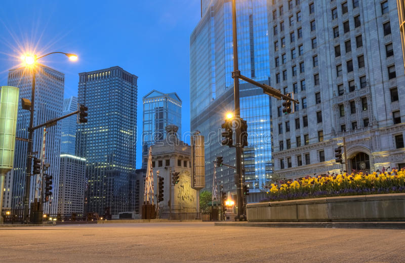 Chicago in the Early Morning royalty free stock photography