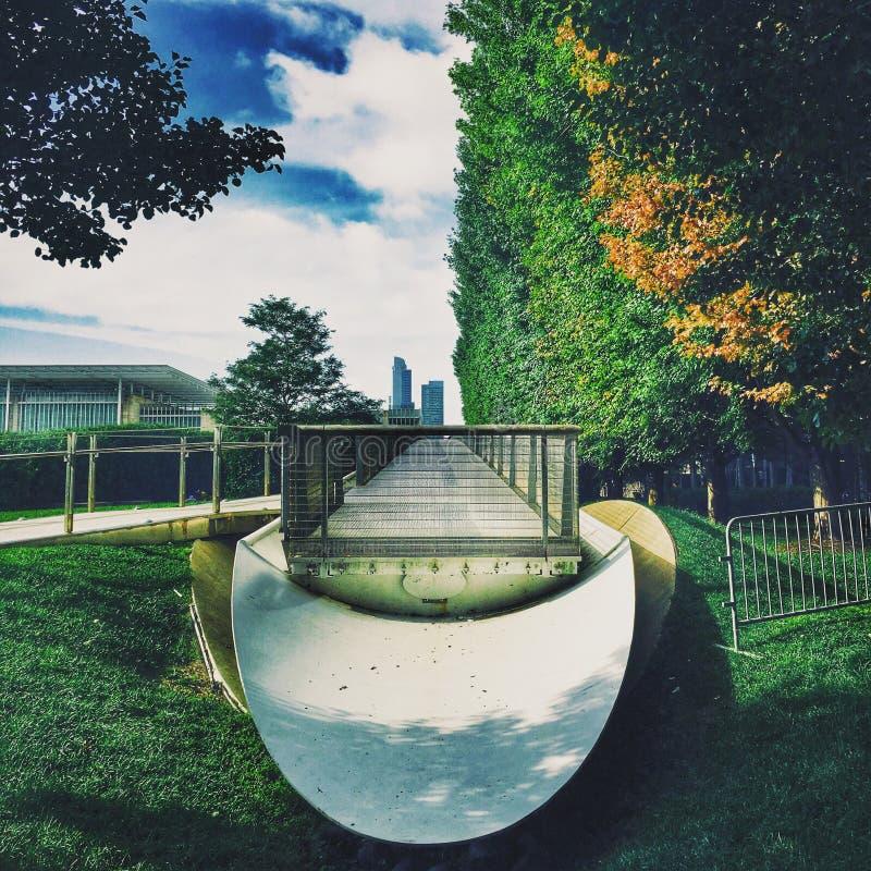 Chicago: Een Stad van Architectuur en Aard royalty-vrije stock afbeeldingen