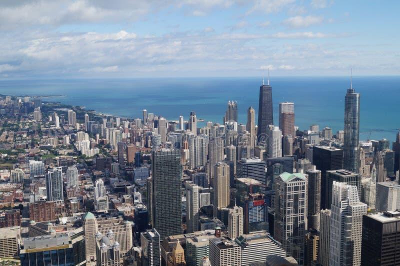 Chicago en Meer stock foto's