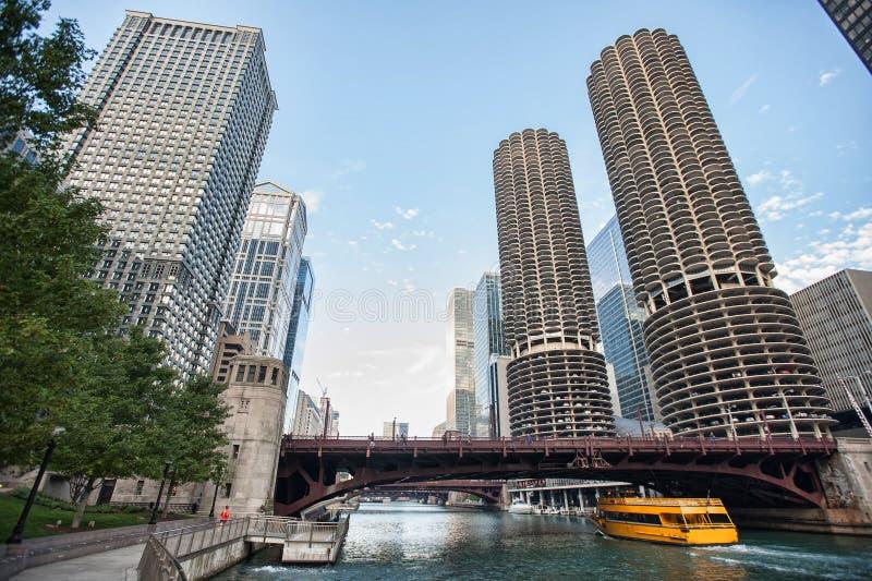 Chicago est l'endroit pour des touristes et son images stock