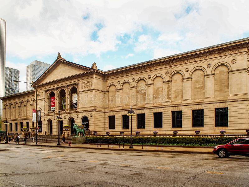 Chicago, Estados Unidos - Art Institute del edificio de Chicago imágenes de archivo libres de regalías