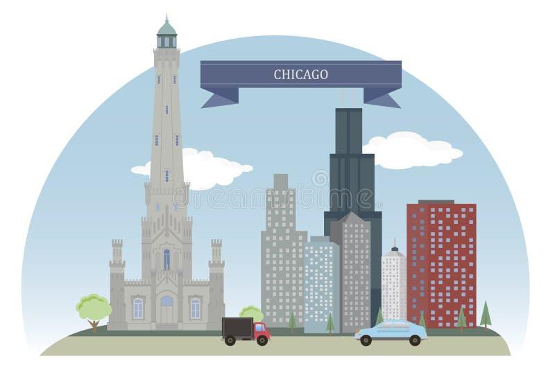 Chicago, EUA ilustração stock