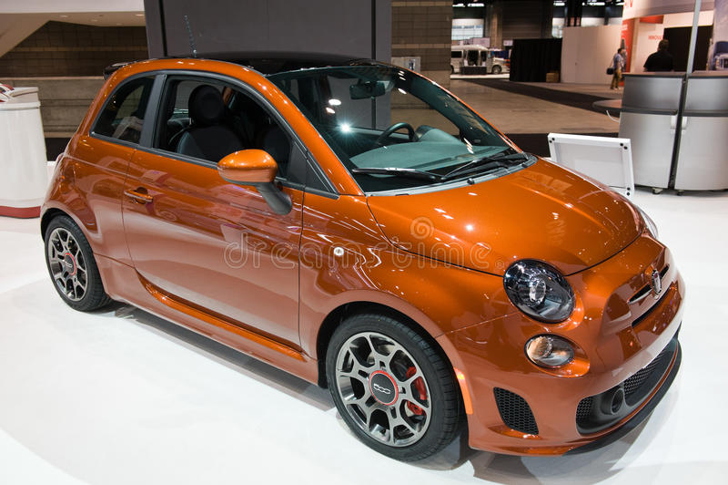 Fiat all'esposizione automatica di Chicago fotografia stock libera da diritti