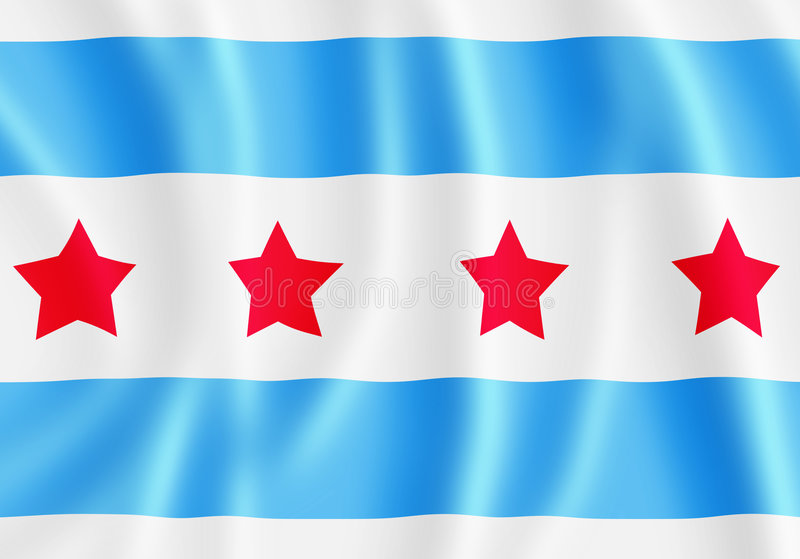 chicago flagga royaltyfria foton