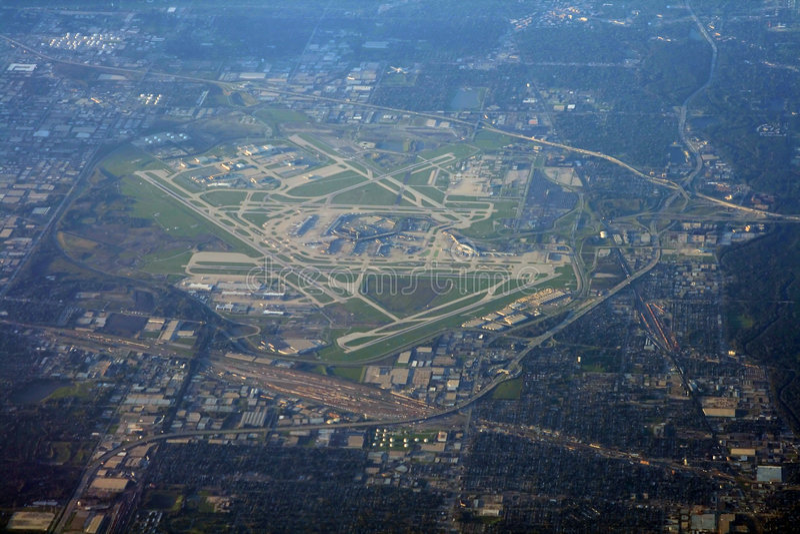 Chicago-Flughafen lizenzfreie stockbilder