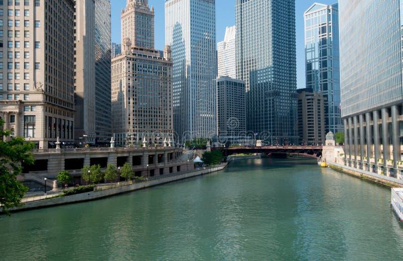 Chicago-Fluss-Stadt Von Chicago Illinois, USA Lizenzfreies Stockfoto