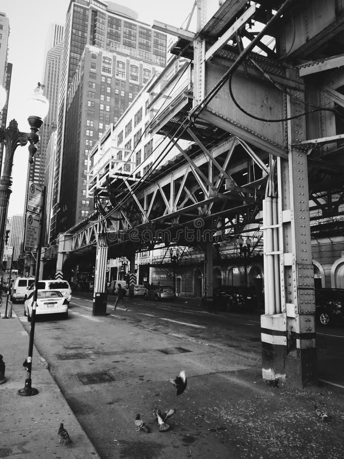 Chicago gångtunnel royaltyfri bild