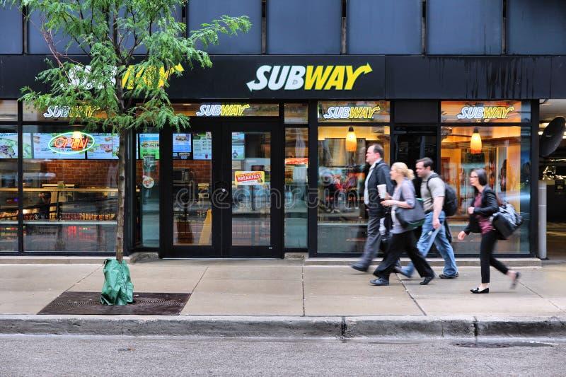 Chicago gångtunnellager fotografering för bildbyråer