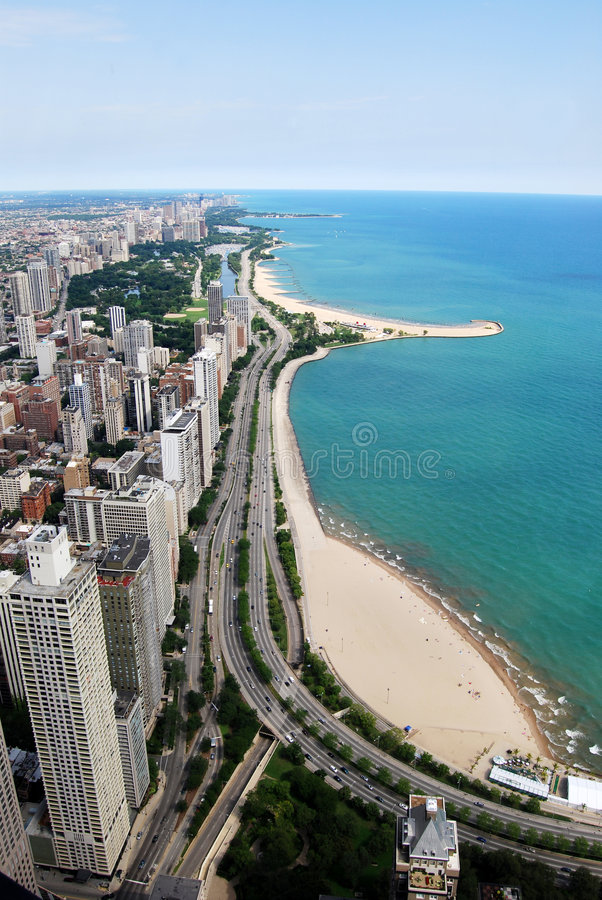 Chicago Gold Coast imagem de stock royalty free