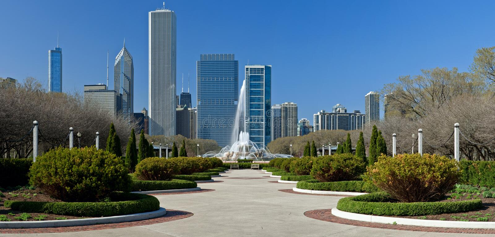 Chicago Grant Park royalty free stock photos