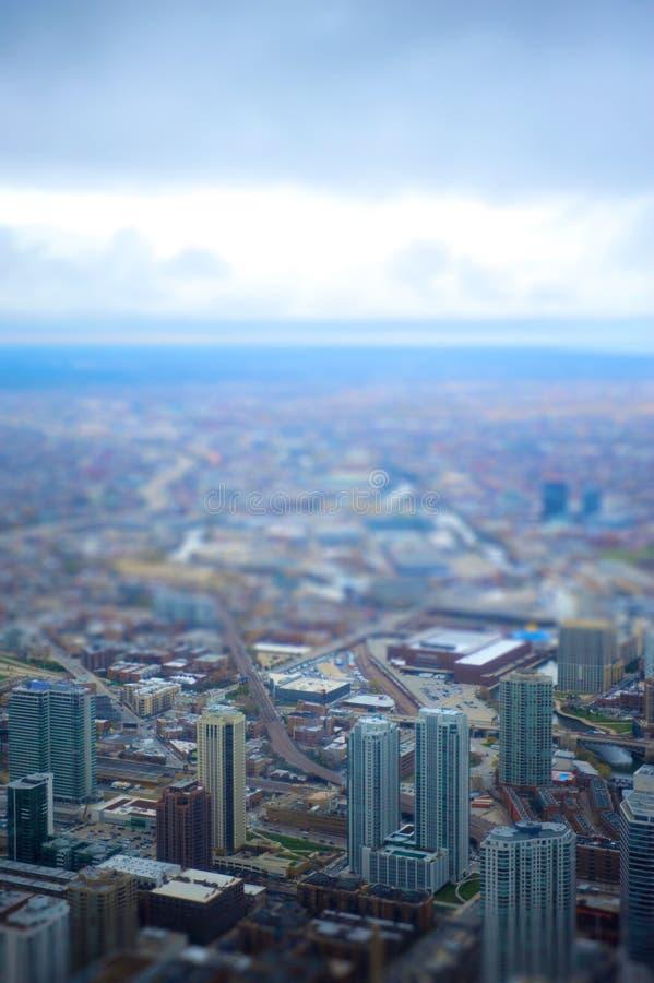 Chicago ha inclinato fotografia stock libera da diritti