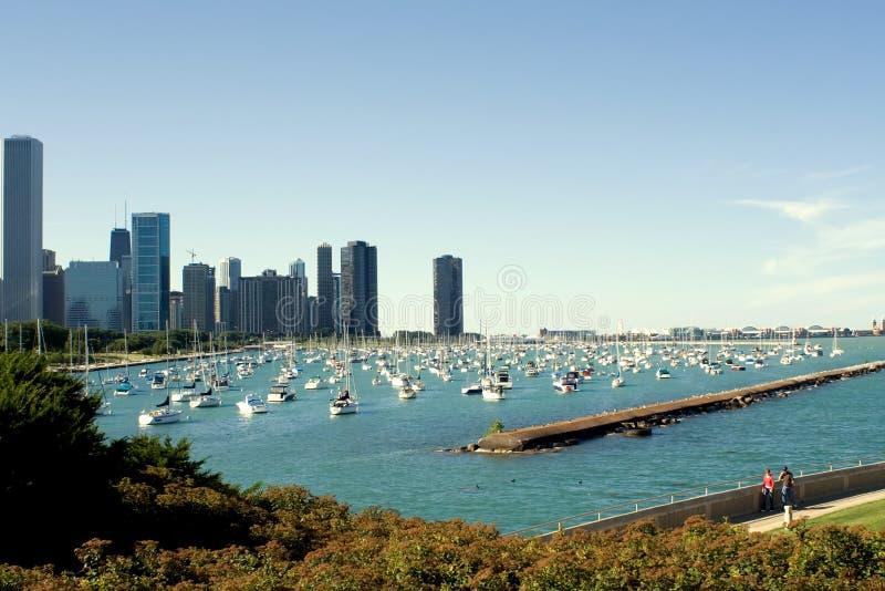 Chicago-Hafen und Marine-Pier lizenzfreies stockfoto