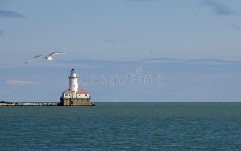 Chicago Harbor Lighthouse Stock Images