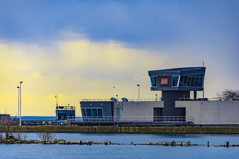 Chicago Harbor Lock royalty free stock images