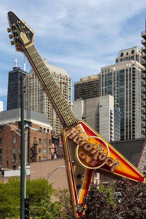 Chicago Hard Rock Cafe fotografia stock libera da diritti