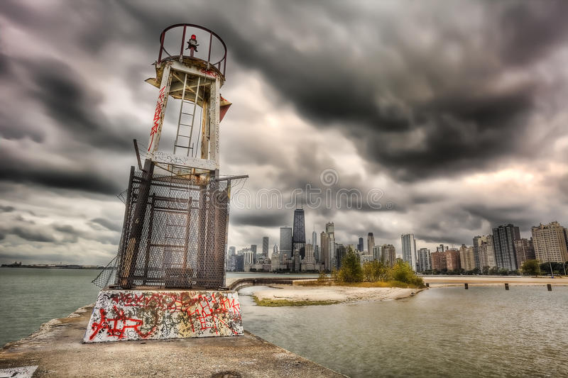 Chicago, HDR immagine stock