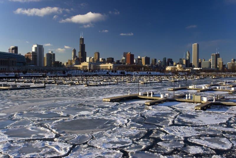 Chicago helada imagenes de archivo