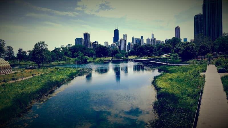 Chicago-Himmel stockbilder