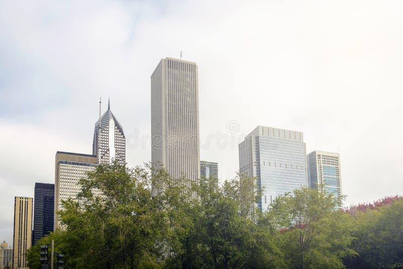 Chicago horisont royaltyfria foton