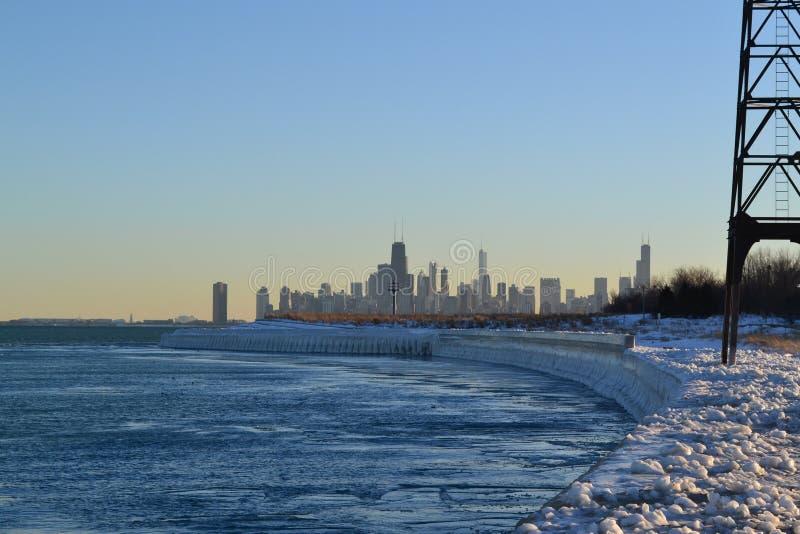 chicago icy στοκ εικόνες με δικαίωμα ελεύθερης χρήσης